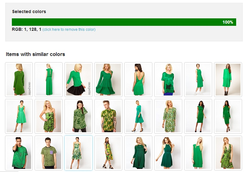 Asos - dark green - Imagga results