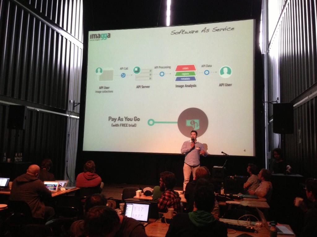 Georgi presenting Imagga APIs
